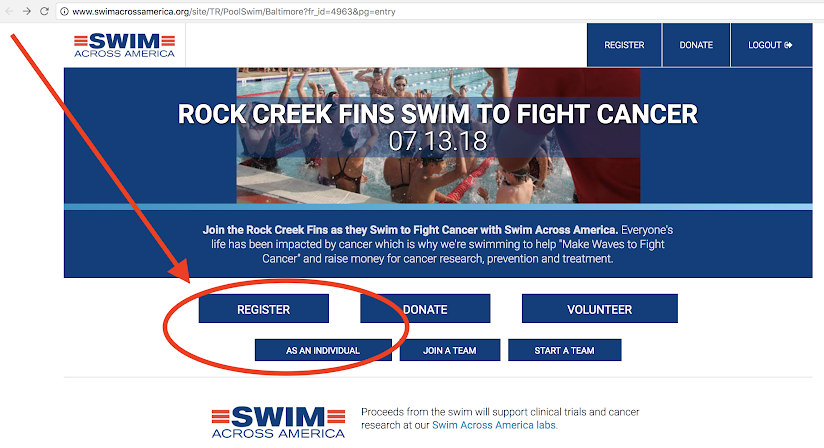 Rock Creek Pool | Register for the Swim to Fight Cancer
